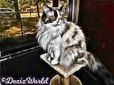 DezizWorld's Raena as a painting on perch