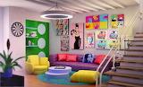 Colorful contemporary interior design