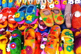 Colorful felt slippers