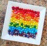 Dish of Rainbow Jelly Beans