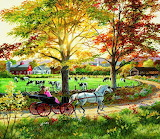 Sunday horse-drawn carriage trip