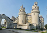 Château de Pierrefonds, France, front entrance,