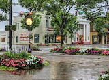 After rain shower downtown Fairhope Alabama
