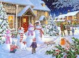 Colours-colorful-snow-family-house-snowman-snowin-painting-jigsa