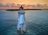 Cockspur Lighthouse High Tide Submerged