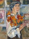 Natalia Goncharova, self-portrait,1907