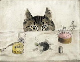 "Animals tumblr dogstardreams ""Couturier Cat"" 1927 ""Tsuguharu Fou"