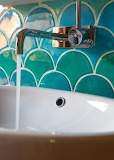 Bathroom tile and sink
