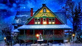 Snow-winter-house-New-Year-Christmas-lights-trees