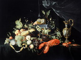 Fruit and Lobster, still life by Jacob Marrel