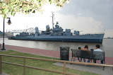 USS KIDD Quiet Day on the Levee