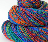 ^ Homespun yarn rainbow