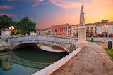 Bridge, Italy, channel, statue, promenade, Padova, Square Prato
