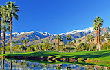 Palm Springs Mountains and Golf Course California USA