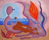Rita Kernn Larsen, The flame finds its master, 1936