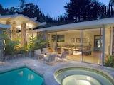 Luxury modern white villa, spa and pool