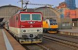 ZSSK and RegioJet at Praha Hl.n.