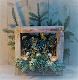 Christmas aged wood greenery