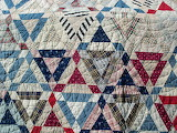 ^ Vintage Antique Quilt Made From Feedsacks
