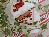 ^ Gooseberry pound cake with red current curd