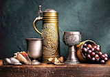#Still Life with Green Stein by Harold Ross