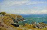 Above a Cove, North Cornwall by Arthur Hughes c. 1891