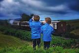 train, boys