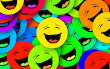 multi colored laughing smileys