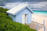 Bahamas, beach hut, sea, sand, vegetation, nature