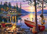 Canoe Lake ~ wallpaper Darrell Bush dsktpnxus