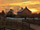 Greenfield Village Firestone Sunset by Gary Thomas