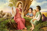 Young-jesus-children-god-love-sheep-tree-nature