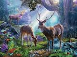 Jeleni v lese