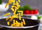 ^ Adding pasta to the pot