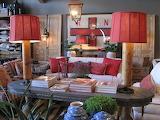 Vintage-mVintage modern-red-table lamps.furniture