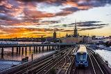 Sunset over Eurorail