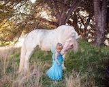 Horse, fairy, unicorn, girl, trees, nature