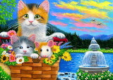 Cats-art-painting