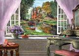 Lake View from a Window - Dominic Davison