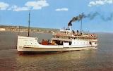 1960 postcrd Straits of Mackinacp