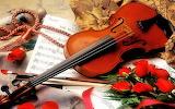 #Violin and Roses