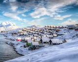 ^ Greenland, Nuuk, Denmark, winter, houses, snow, beautiful