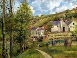The Hermitage at Pontoise, 1874 ~ Camille Pissarro