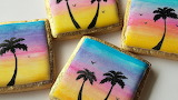 Sunset cookies @ SweetAmbsCookies