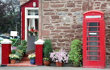 Various small 111 red house and phone booth
