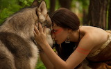 ☺ Woman and wolf...