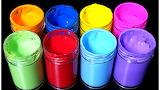 Colorful rainbow paints