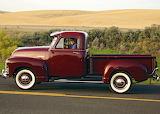 Chevrolet pickup maroon 1951