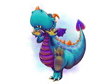 Happy Colourful Dragon by Gidgeymo 2