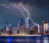 New York City lightening storm